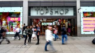 Topshop's flagship store on Oxford Street