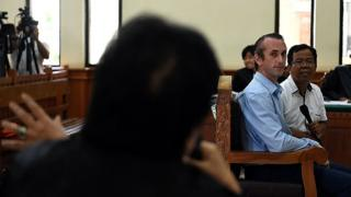 British man David Taylor in court as during the trail of Sara Connor