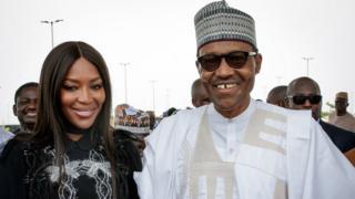 Naomi Campbell and Buhari
