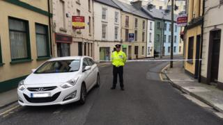 Gardaí (Irish police) cordoned off the scene in Connolly Street, Sligo