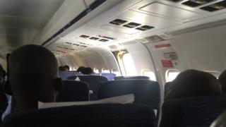 A picture of the inside of the aircraft posted on Twitter by Dapo Sanwo.