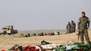 YPG'li militanların Şubat ayından bir fotoğrafı