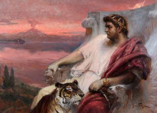 Pintura do imperador Nero