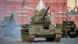 Т-34 на параде