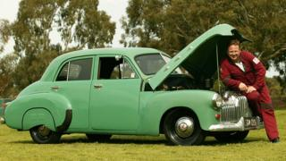in_pictures A 1951 FX Holden belonging to the director of Queenscliff music Festival