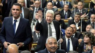 Egypt's parliament meets for the first time in three years