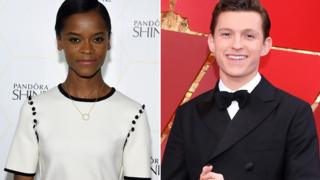 Letitia Wright and Tom Holland