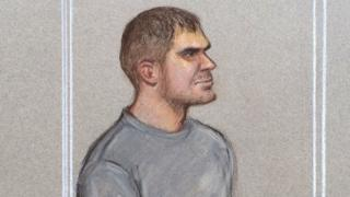 Court sketch of Ciarán Maxwell in Westminster Magistrates Court, 2 September 2016