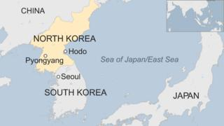 map of North Korea and South Korea
