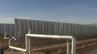 Oil filled tubes which creates steam on heating from solar energy