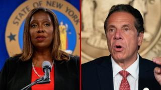 New York State Attorney General Letitia James and NY Governor Andrew Cuomo