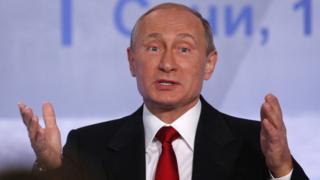 Russian President Vladimir Putin speaks during a meeting of members of the Valdai International Discussion Club in Sochi