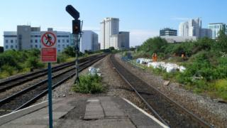 Railway line closed between main Cardiff stations
