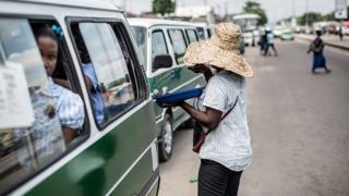 Vue du marché central de Makelekele à Brazzaville