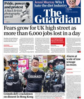 Guardian front page 02/07/20