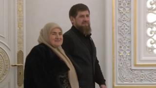 Ramzan and mother Ayman Kadyrov 2020