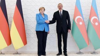 Almaniya Kansleri Angela Merkel prezident İlham Əliyevlə görüşüb
