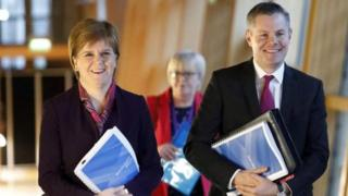 First minister and Derek Mackay