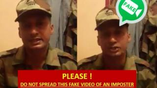 Image of fake news warning by Indian Army