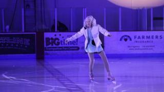 Ice skater Yvonne Dowlen