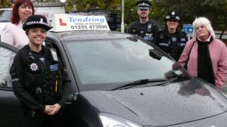 Police and instructors in Tendring