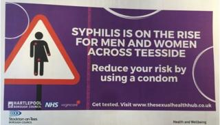 Public information poster warning against syphilis