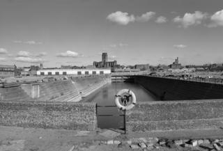 Queens Graving Dock, Liverpool, England 1986