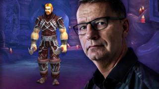 Robert Steen and his son Mats's online character, Ibelin, in World of Warcraft