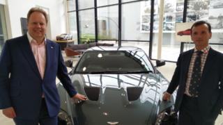 Andy Palmer of Aston Martin and Alun Cairns MP