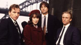 Christopher Eccleston, Gina McKee, Mark Strong and Daniel Craig in Our Friends in the North