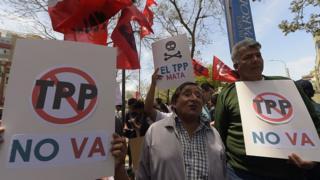 Protesta contra el TPP en México