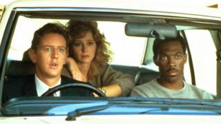 Eddie Murphy, Judge Reinhold, and Lisa Eilbacher in Beverly Hills Cop