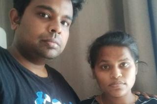 Pradeep Kumar and his wife Premlatha