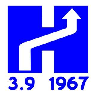 Logo de cambio de lado de la calle en Suecia.