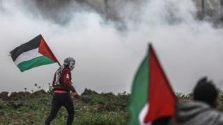 احتجاجات على حدود غزة مع إسرائيل