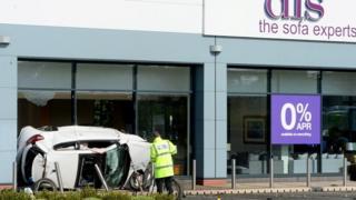 The scene of the crash in Cannock