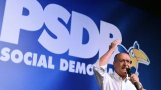 Geraldo Alckmin em discurso pelo PSDB