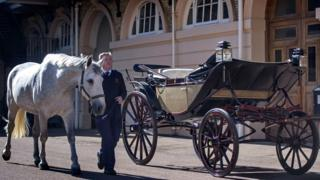 The carriage for the procession