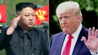 North Korean leader Kim Jong-un and US President Donald Trump