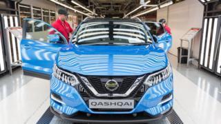 Nissan makes the Qashqai SUV at its Sunderland plant