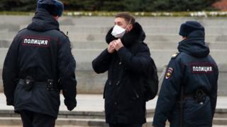 Полиция на Красной площади в Москве