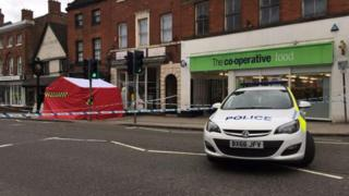 Police cordon at the scene