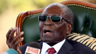Robert Mugabe, the former president of Zimbabwe