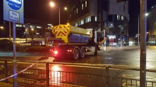 The gritter stopped at the top of Custom House Street