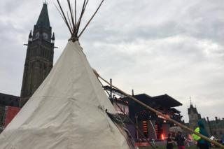 Типи - традиционное жилище канадских индейцев