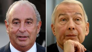 Sir Philip Green and MP Frank Field