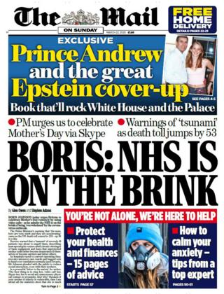 Mail on Sunday front