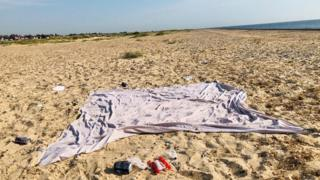 environment Litter on Great Yarmouth beach