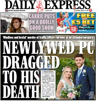 Front page of the Daily Express