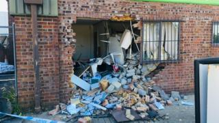 The ram-raid at the petrol station in Hadleigh